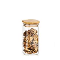 4Home Szklany pojemnik do żywności z wiekiem Bamboo, 300 ml