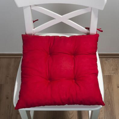 Sedák Uni, červená, 38 x 38 cm, sada 2 ks
