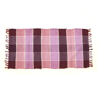 Tkaný koberec fialová, 70 x 140 cm