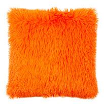 Párnahuzat Peluto Uni szőrӧs narancssárga, 40 x 40 cm