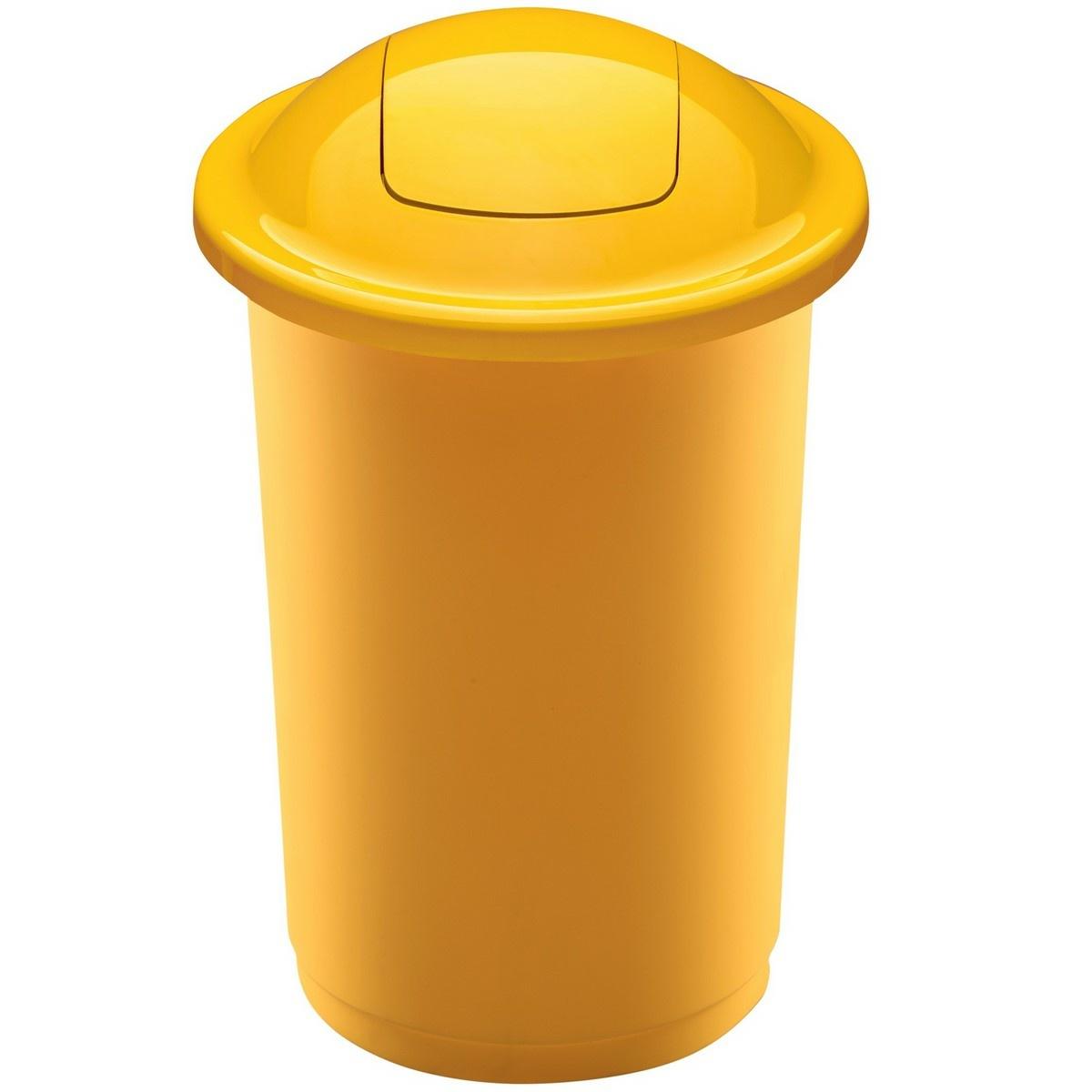 Coș de sortare deșeuri Aldo Top Bin, 50 l, galben imagine 2021 e4home.ro