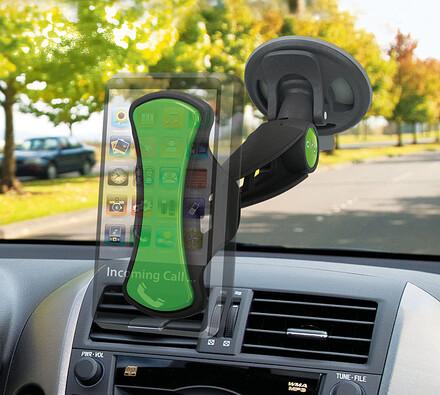 Univerzální držák do auta, Clingo, černá + zelená