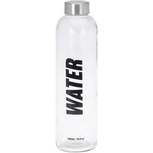 Sklenená fľaša na vodu Water, 750 ml