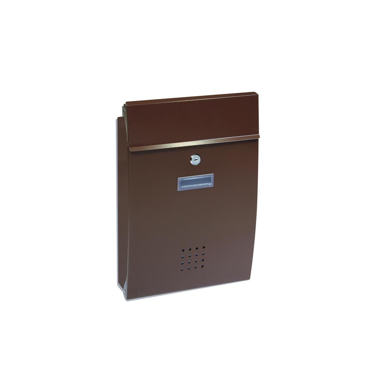 Oceľová poštová schránka hnedá