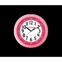 Zegar ścienny Clockodile różowy, śr. 25 cm