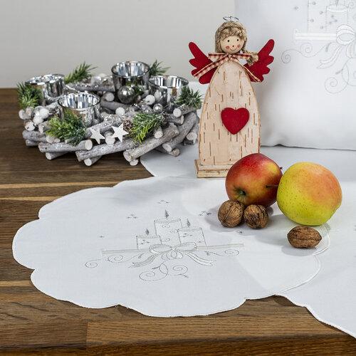 Obrus świąteczny Świeczki, 35 cm