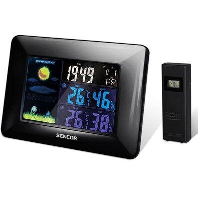 Sencor SWS 4250 Meteorológiai állomás vezeték nélküli érzékelővel, fekete