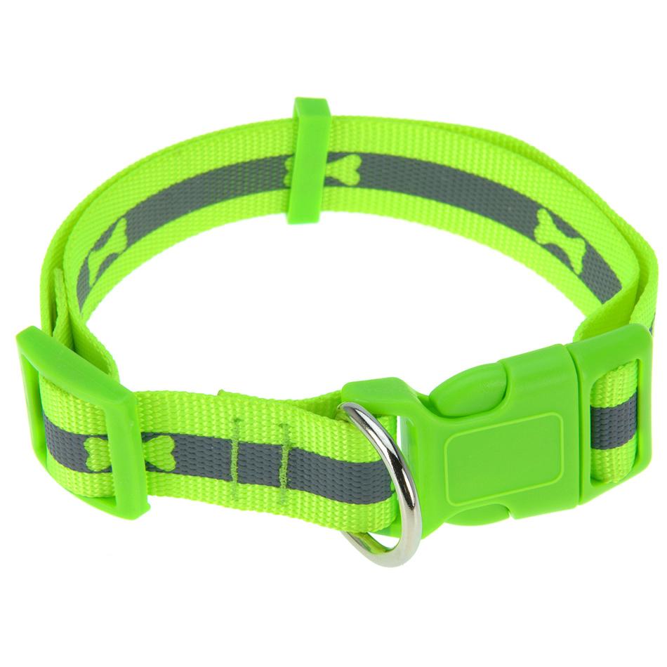 Obojok pre psa Neon zelená, veľ. L