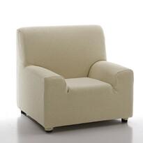 Multielastyczny pokrowiec na fotel Petra beżowy, 70 - 100 cm