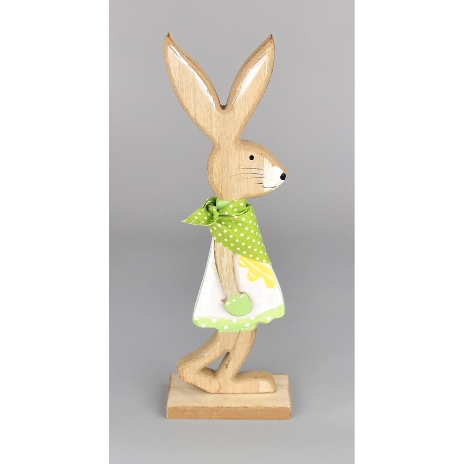 Velikonoční dřevěný zajíček Matěj zelená, 24 cm