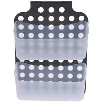 Koupelnový závěsný košík, šedá, 36 x 25 x 9 cm