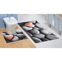 Dywanik łazienkowy Ciemne kamienie 3D, 60 x 100 + 60 x 50 cm