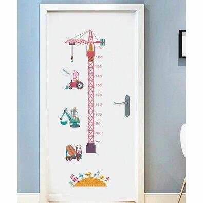 Samolepicí dekorace Metr stavební stroje, 150 x 50 cm