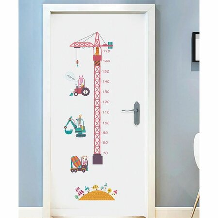 Samolepiaca dekorácia Meter stavebné stroje, 150 x 50 cm