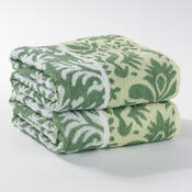 Ručník Kelly zelená, 50 x 100 cm, sada 2 ks