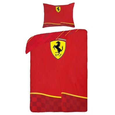 Bavlněné povlečení Ferrari, 140 x 200 cm, 70 x 90 cm