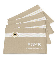 Suport farfurie 4Home Sweet Home, 33 x 45 cm, set 4 buc.