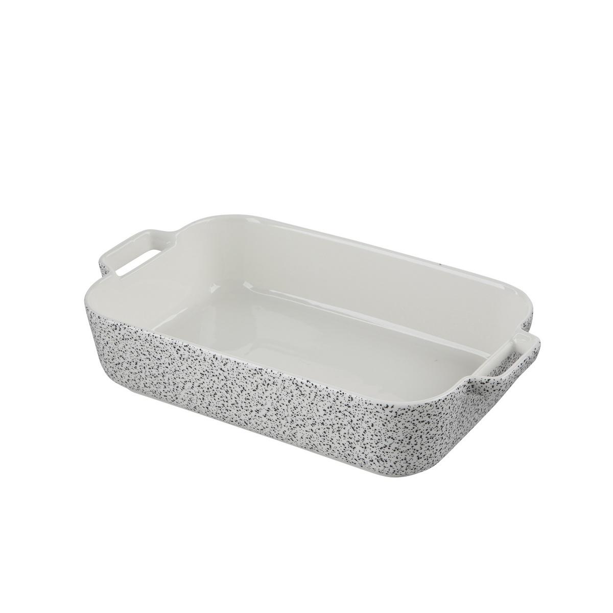 Altom Zapékací mísa Granit 24 x 14 x 6 cm, bílá , 24 x 14 x 6 cm