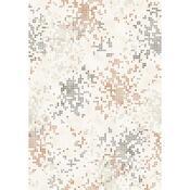 Draperie cu inele Grain, maro, 150 x 245 cm