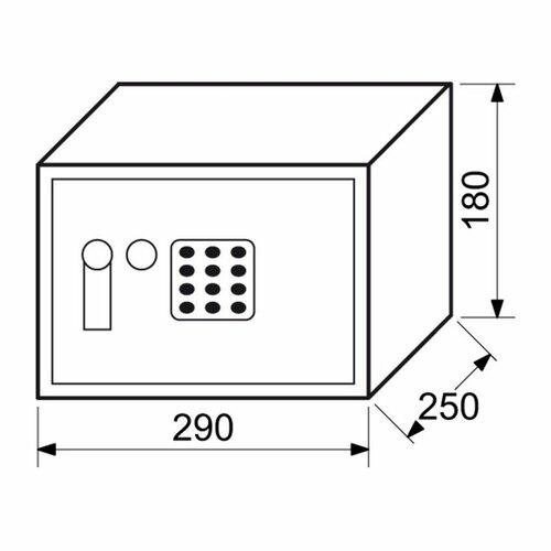Oceľový sejf s elektronickým zámkom RS.18.EDK