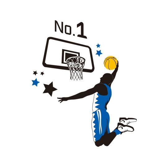 Samolepiaca dekorácia basketbal,