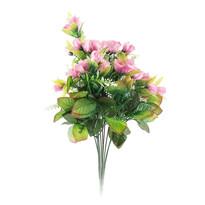 Buchet artificial trandafiri, roz