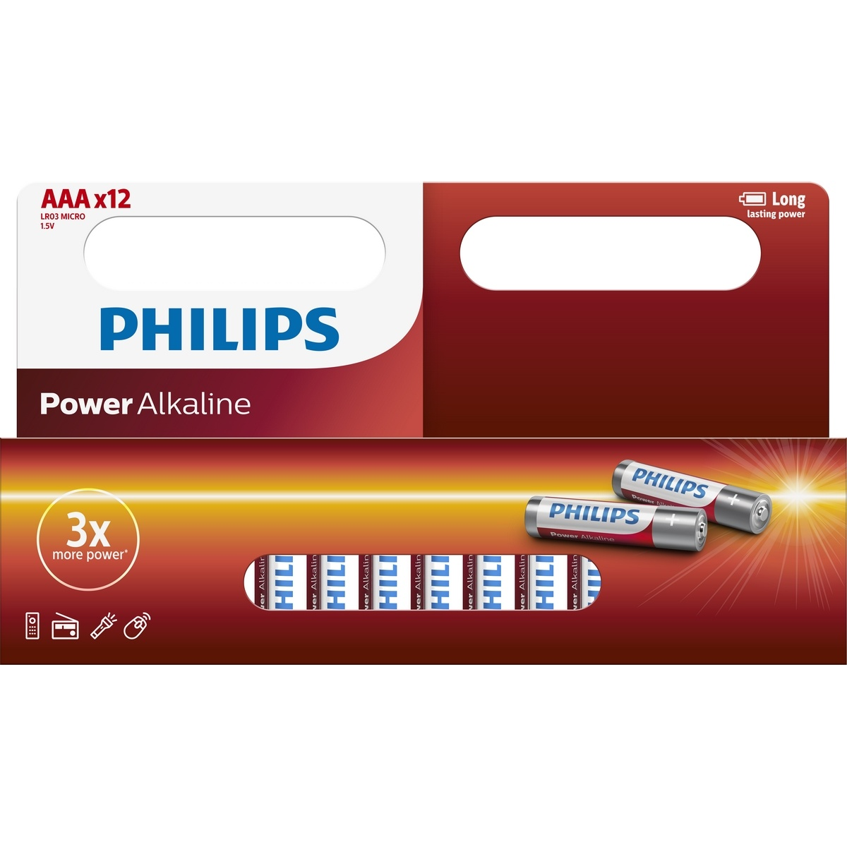 Philips baterie AAA Power Alkaline - 12ks LR03P12W10