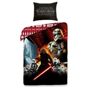 Dětské bavlněné povlečení Star Wars The Force Awakens red, 140 x 200 cm, 70 x 90 cm