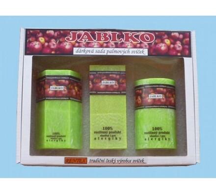 Dárková sada palmových svíček jablko, zelená