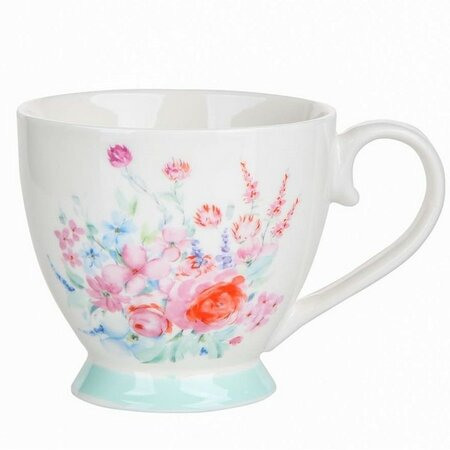 Altom Pasztell virág porcelánbögre, 430 ml