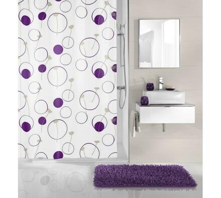 Koupelnový závěs Monore  Meusch bezinka, fialová, 180 x 200 cm