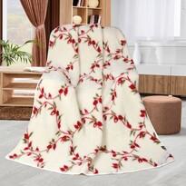 Vlněná deka Kvítky popínavé, 155 x 200 cm