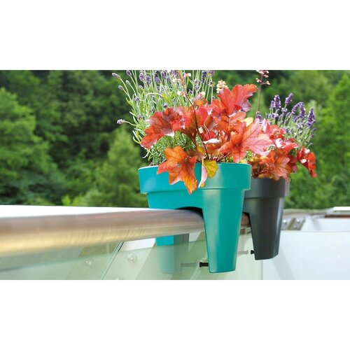 Květináč na zábradlí Lofly Railing antracitová, 24,5 cm