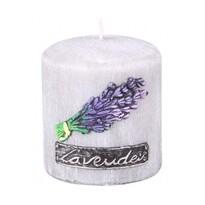 Świeczka zapachowa Lawenda Provance walec, 8 x 9 cm