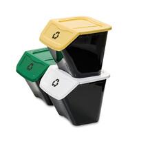 Koš na tříděný odpad Ecobin 30 l, 3 ks