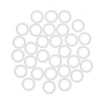 Műanyag karikák kampó nélkül, fehér, 1,1 / 1,6 cm