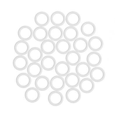 UH krúžky bez háčika, bílá, 1,1 / 1,6 cm