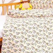 Dětské bavlněné povlečení do postýlky Ovečky, 90 x 130 cm, 40 x 60 cm