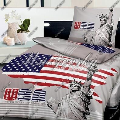 Matějovský bavlněné povlečení Liberty USA, 140 x 200 cm, 70 x 90 cm