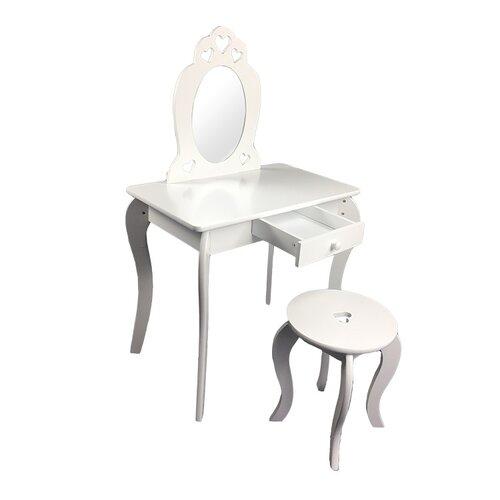 Detský kozmetický stolík so zrkadlom Elza, 68 x 40 x 106,5 cm