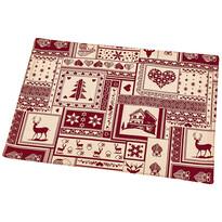 Vánoční prostírání Patchwork červená, 33 x 45 cm