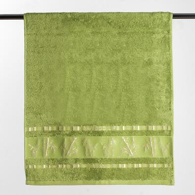 Osuška Bamboo life, 70 x 140 cm, zelená