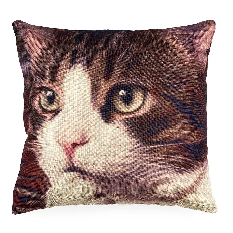 Obliečka na vankúšik Mačka, 45 x 45 cm