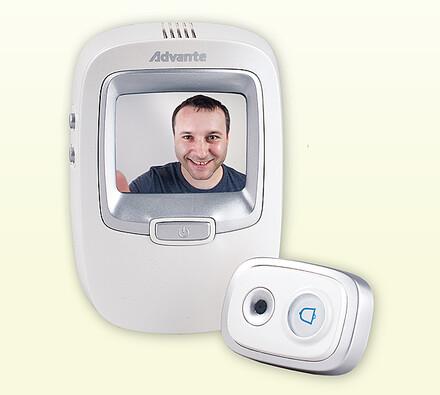 Zvonek s digitálním dveřním kukátkem a fotoaparátem, Solight, bílá