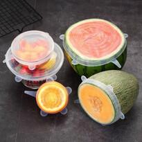 4Home Fresh szilikon fedő szett élelmiszerekre,6 db