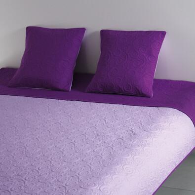 Přehoz na postel Maestri fialová + povlaky na polštářky zdarma, 220 x 240 cm, 2 ks 40 x 40 cm