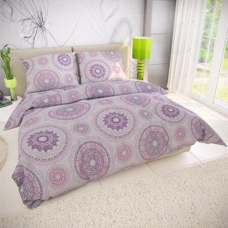 Kvalitex Manila pamut ágynemű, lila, 140 x 200 cm, 70 x 90 cm
