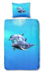 Bavlněné povlečení Delfíni foto 140x200, 70x90 cm