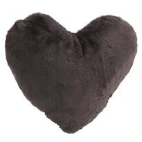 Altom Szív párna, sötétszürke, 40 x 40 cm