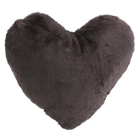 Altom Vankúšik Srdce tmavosivá, 40 x 40 cm